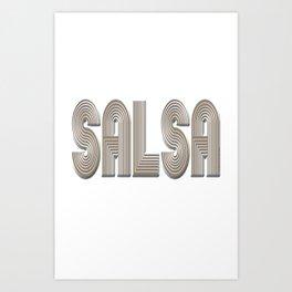 Salsa Abba Cool Art Print