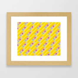 Pencil Pattern Framed Art Print