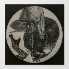 Totenkopf und Fledermaus II Canvas Print
