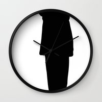 storm trooper Wall Clocks featuring Trooper... Storm Trooper 4 by Derek Donovan