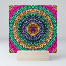 Bohemian mandala Mini Art Print