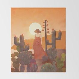 Beauty in the desert Throw Blanket
