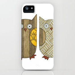 4 Gold Owls iPhone Case