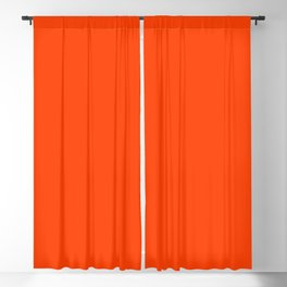 Bright Fluorescent Neon Orange Blackout Curtain