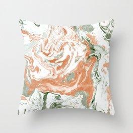Marble of autumn Throw Pillow