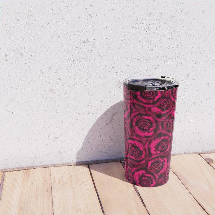 Raspberry roses. Travel Mug
