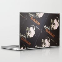 johnny cash Laptop & iPad Skins featuring Johnny Cash Stamps by Amber Dawn Hilton