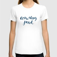 amy pond T-shirts featuring Come Along Pond by kfrankmoo