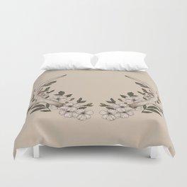 Floral Antler Duvet Cover