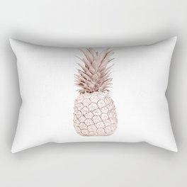 Pineapple Rose Gold Rectangular Pillow
