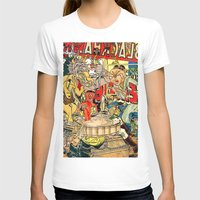 lichtenstein T-shirts featuring the daily lives of hungry ghosts by Lanny Quarles