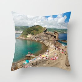 Islet of Vila Franca do Campo Throw Pillow