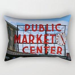 Pike Place Market Rectangular Pillow