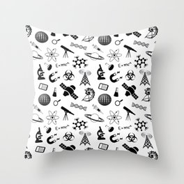 Symbols of Science Throw Pillow