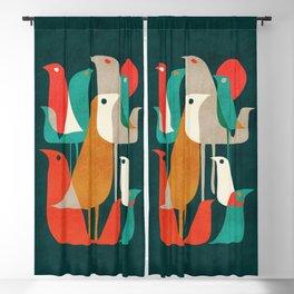 Flock of Birds Blackout Curtain