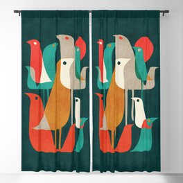 Flock of Birds Blackout Curtain