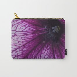 Purple Pansy Flower Carry-All Pouch