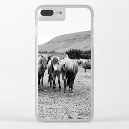 Horse Gang Clear iPhone Case