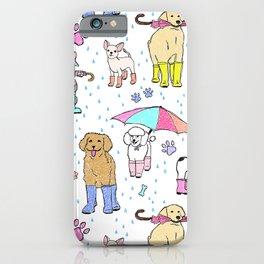 Dotty Downpour Doggie Doodles iPhone Case