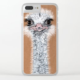 Ostrich animal Clear iPhone Case