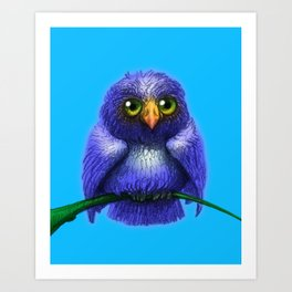 Little Bluebird Art Print