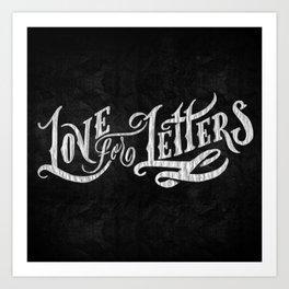 Love for Letters Art Print