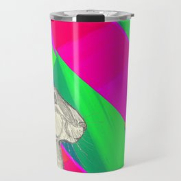 stand up straight   neon pink (rabbit & hare series) Travel Mug