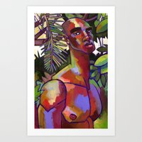 Victor in the Forest Art Print