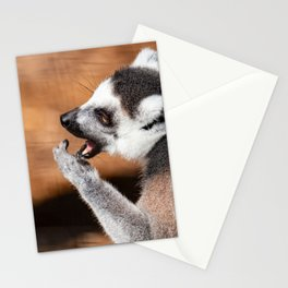 Ring tail lemur eating Stationery Cards