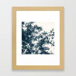 Blue Leaves #1 Framed Art Print
