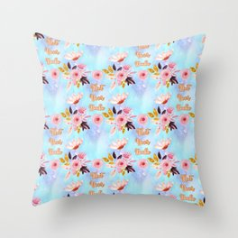 Cute Floral 'Not Your Babe' print Throw Pillow