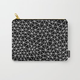 Connectivity - White on Black Carry-All Pouch