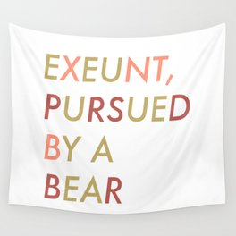 Shakespeare - The Winter's Tale - Exeunt Exit Pursued by a Bear Wall Tapestry