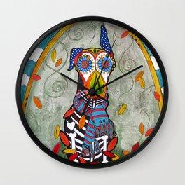 Zeus the Doberman Wall Clock