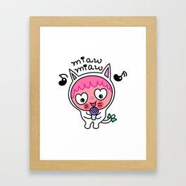Pinky & choco : MIAW MIAW Framed Art Print