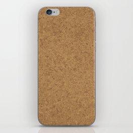 Cork Board Background iPhone Skin