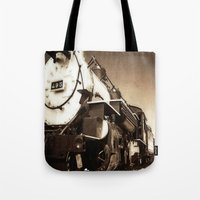 train Tote Bags featuring Train by SteeleCat