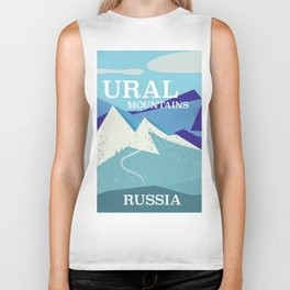 Ural Mountains Russia Biker Tank