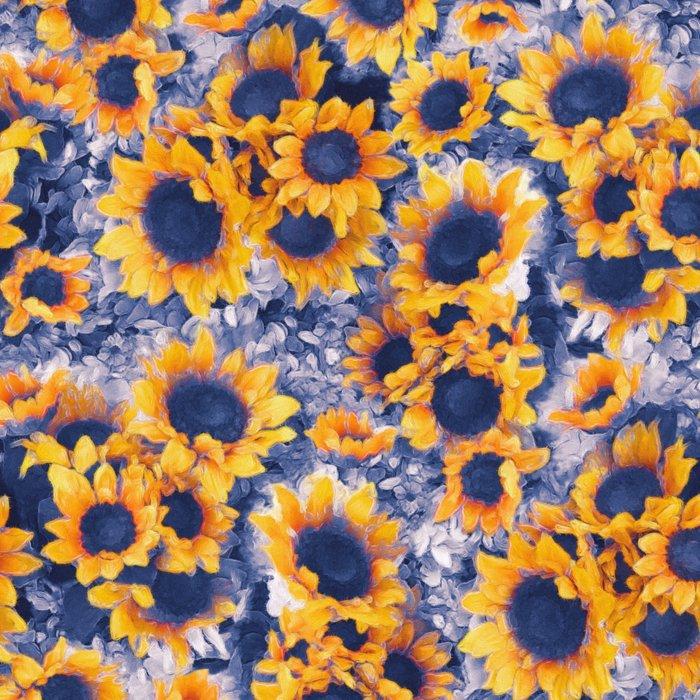 Sunflowers Blue Leggings