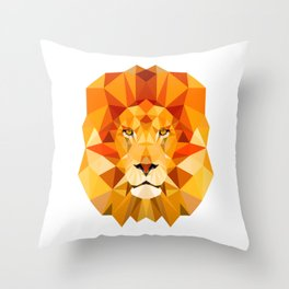 Lion, The King of the Jungle Throw Pillow
