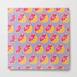 Grapefruit pattern 05 Metal Print