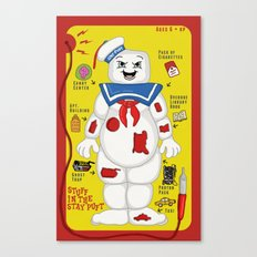 Stuff in the Stay Puft Canvas Print