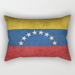 Old and Worn Distressed Vintage Flag of Venezuela Rectangular Pillow