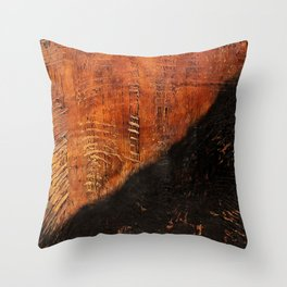 Sandias (Rust Abstract) Throw Pillow