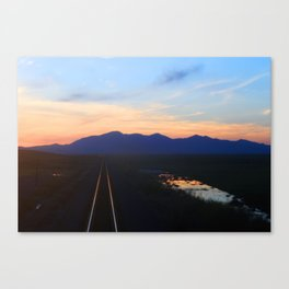 The Sunset End of the Train Track Canvas Print