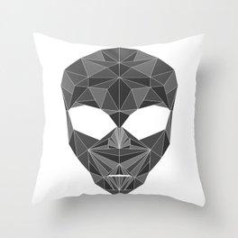 lowpolycyberalien Throw Pillow
