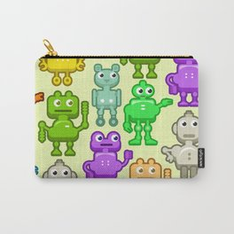 Background with funny robots Carry-All Pouch
