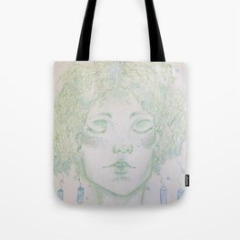 A woman of Crystals Tote Bag