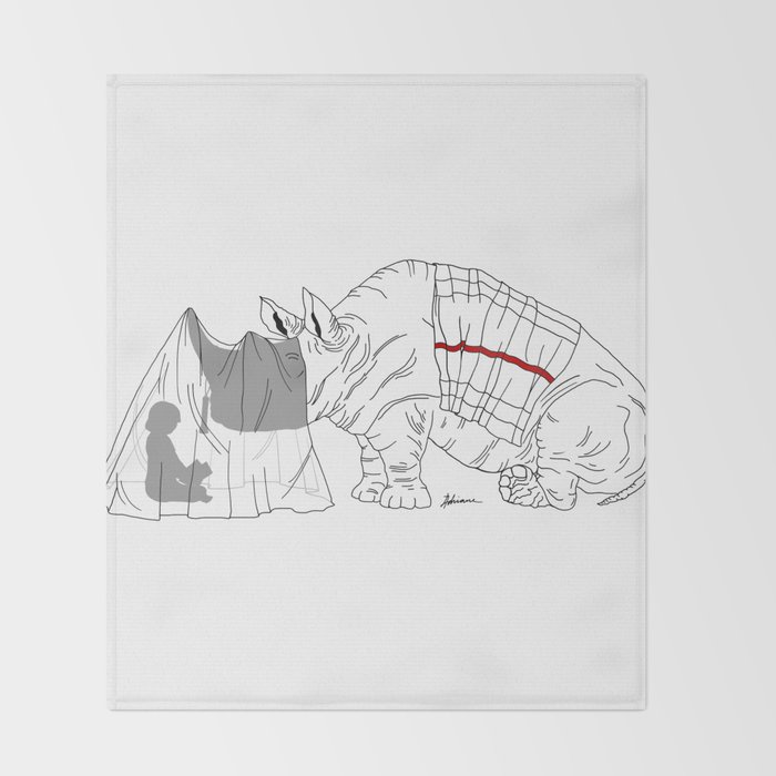 Danger Kids: Reading Rhino Throw Blanket
