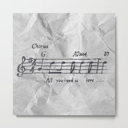 all you need is love! Metal Print
